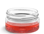 2 oz Clear Heavy Wall Plastic Jar and Lid