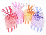 Clearance Candy Stripe Bath Salts Gift Bag