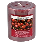 Luminessence Black Cherry Scented Pillar Candle