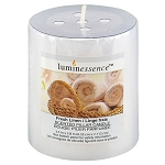 Luminessence Fresh-Linen White Pillar Candle