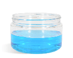 Heavy Wall Plastic Jars w/Lids: 4 oz Jars (1 Case of 48 Jars)