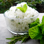 Herbal Sea Salt Body Scrub: 4oz Jar