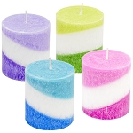 Luminessence Tri-Swirl Pillar Candles