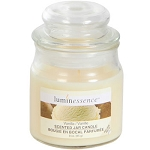 Luminessence Vanilla Mini Glass Apothecary Jar Candle, 3 oz.