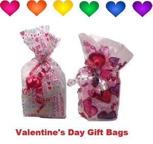 (2) Valentine's Day Scented Bath Salts Gift Bag
