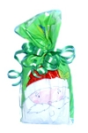 Christmas Santa Head Bath Salt Gift Bag