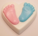 Baby Feet Heart Soap Bar